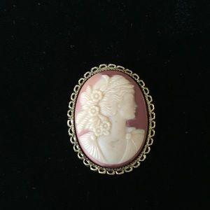 Vintage cameo brooch