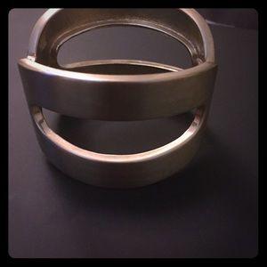 Gold Hinge Bangle Bracelet