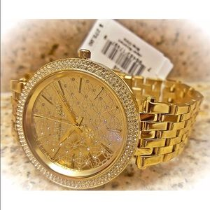 NWT Michael Kors Gold Darci Watch