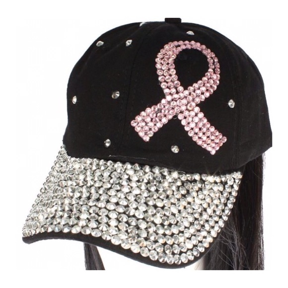c23afe6a6175f Accessories - Breast Cancer Bedazzled Hat