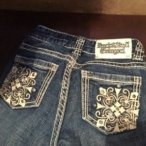 Rock & roll cowgirl girls jeans