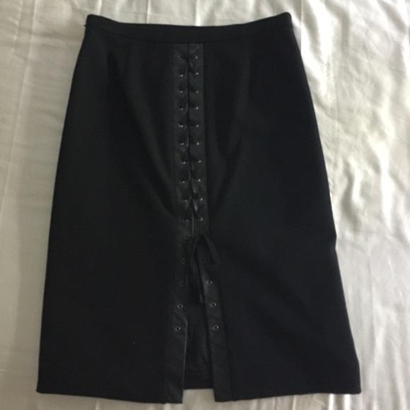 83 bcbgmaxazria dresses skirts bcbg leather trim