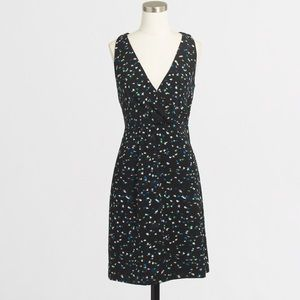 J.crew Wrap Front Dress with Painted Dots