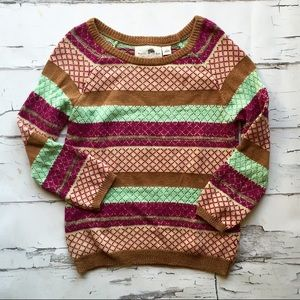 Anthropologie Striated Sparkle Sweater
