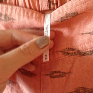 Free People Pants - ✨✂️💰✂️✨EUC Peach and Gold Linen Free People Pants