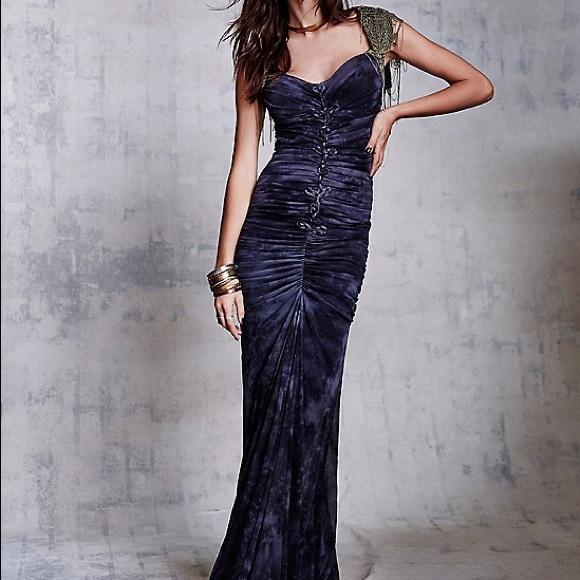 Cecilia De Bucourt Dresses & Skirts - FOUND! Cecilia De Bucourt SHIRRED TIE DYE GOWN  sm
