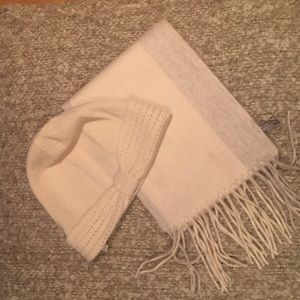 Ann Taylor cashmere scarf and hat