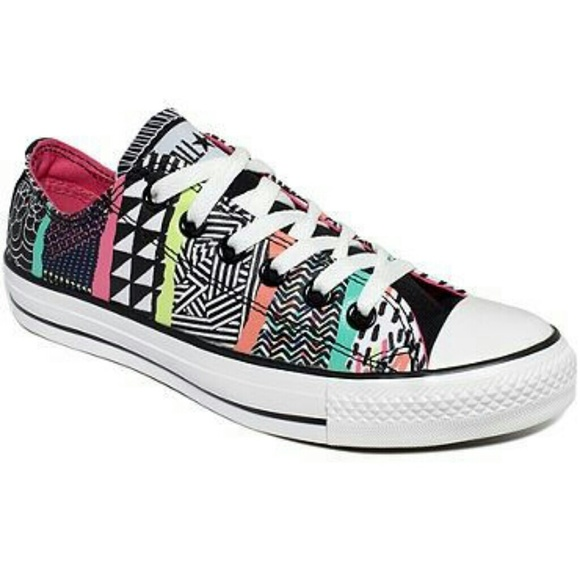 708abb7217a9 Converse Shoes - Geometric Patterned Converse
