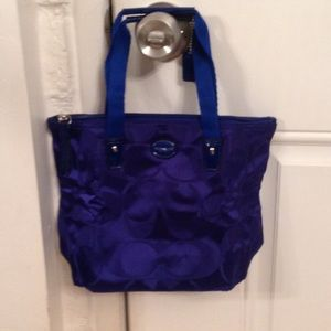 Coach getaway signature nylon small packable tote