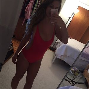 Other - Red one piece bathing suit