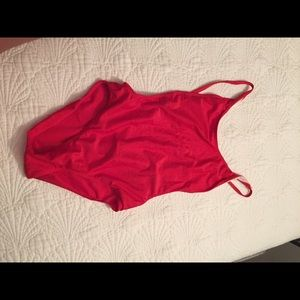 Swim - Red one piece bathing suit