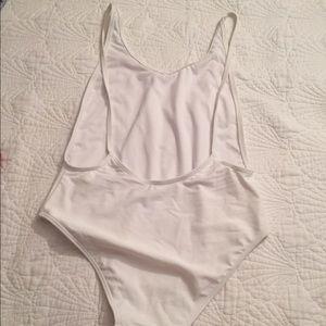 Swim - white one piece bathing suit