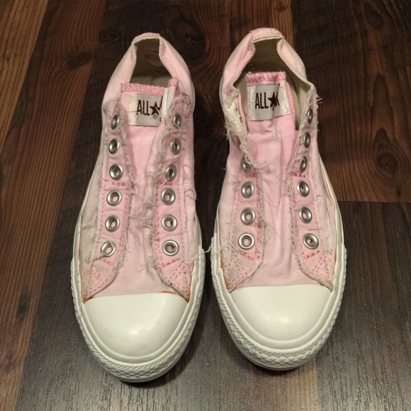 75321d931349 Converse Shoes - Converse no lace low top distressed sneakers Sz 7