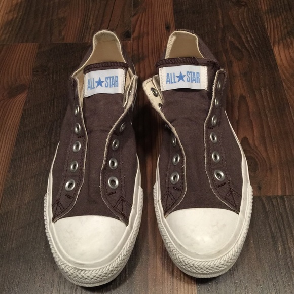 bb022918460c Converse Shoes - Converse no lace low top sneakers Sz 7.5 brown