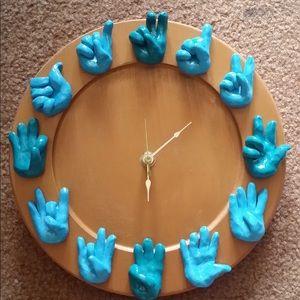 Other - Handmade ASL clock