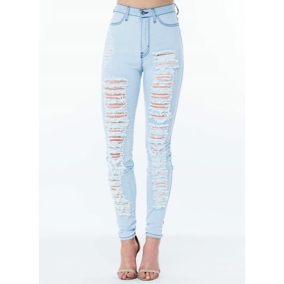53% off Denim - BOGO FREE High Waisted Ripped Jeans 💕 from ...