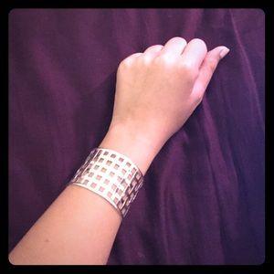 Jewelry - Silver cage cuff bracelet