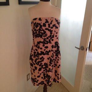 Pink & Black strapless dress