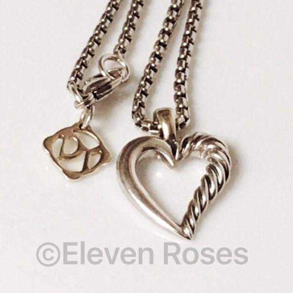 979384a5b79 David Yurman Jewelry - David Yurman Small Cable Heart Pendant Necklace