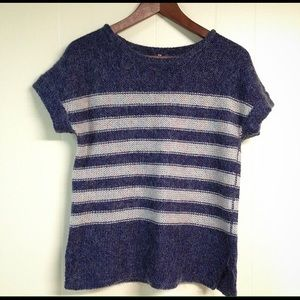 GAP Tops - Gap top with white/blue stripped wool