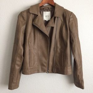 Brown Vegan Leather Jacket