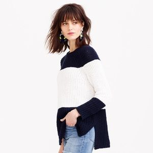 J. Crew Sweaters - NWT J.Crew Navy & White Sailor Stripe Sweater - M