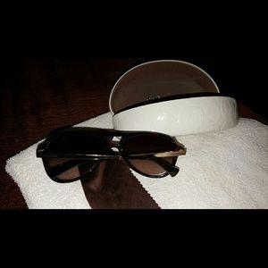 Coach tortoise aviator sunglasses