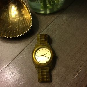 Nixon Time Teller Acetate Honey watch - nwot