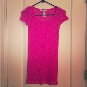Forever 21 Hot Pink Spandex Dress