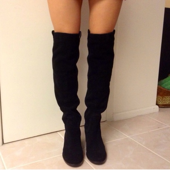 69% off BCBG Boots - BCBG black suede over the knee boots from ...