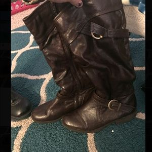 Brown riding style boots size 6.5