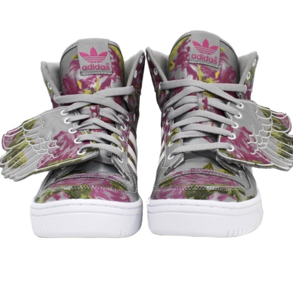 buy popular d5505 3c9f3 Adidas Other - Jeremy Scott Wings Floral (5.5 Men)
