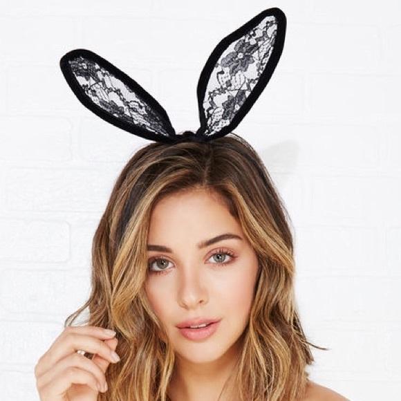 how to make lace bunny ears headband