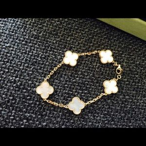 vintage vca pearl cleef of arpels van mother bracelet vc products alhambra