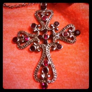 silver necklace cross