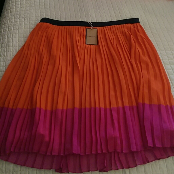 85 bass dresses skirts pleated two tone skirt