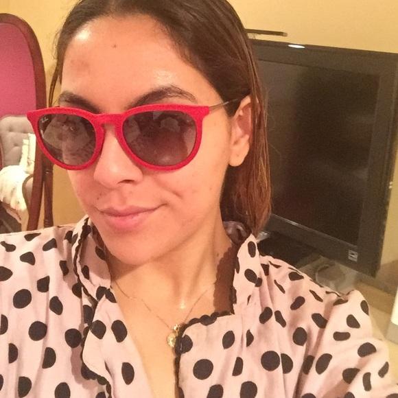 ray ban erika sunglasses red  ray ban accessories ray ban erika sunglasses red velvet.