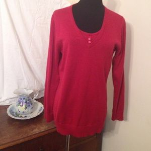 Denim & Co Sweaters - Lovely red sweater