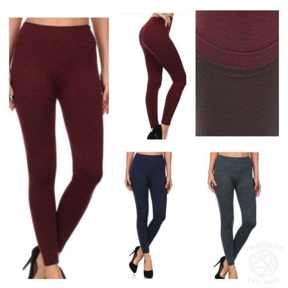 pink berry boutique Pants - {{3 colors}}Fleece lined body shaping legging::