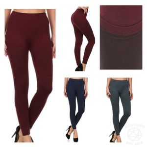 {{3 colors}}Fleece lined body shaping legging::