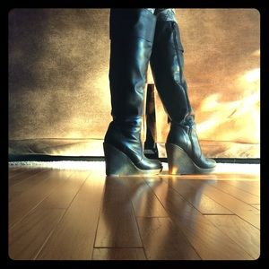 Kelsi Dagger OTK Black Boots