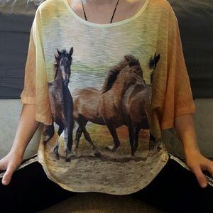 Forever 21 Tops - Forever 21 horse shirt