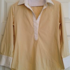 Theory Tops - Reduced✅THEORY butter yellow shirt
