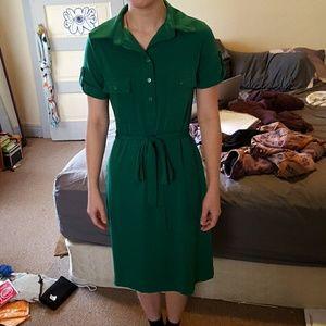 En Focus Studio Dresses & Skirts - Green button up dress