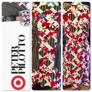Peter Pilotto for Target red floral dress size 6