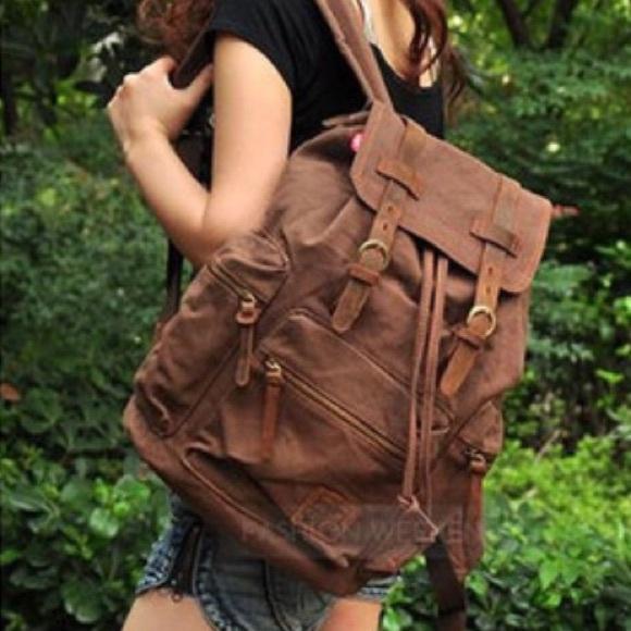 671dda464fb55 Brown canvas backpack. Serbags. M 560dbc765a49d01b88000bfe