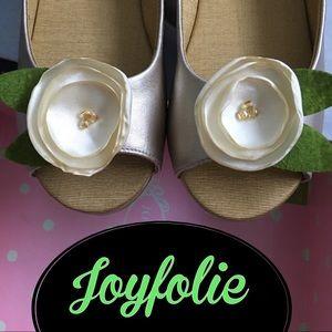 Joyfolie LILYflat champagne flower shoes