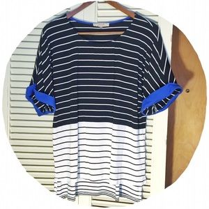 Boutique Tops - ✂️REDUCED!✂️ Striped, Loose Hi-Low Top