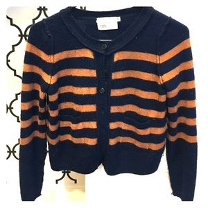 YOON Sweaters - Stripped cropped cardigan