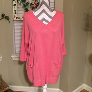 August silk pink oversized sweater